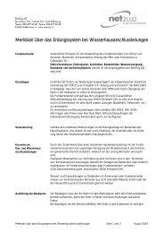 Merkblatt über das Erdungssystem bei - NetZulg AG