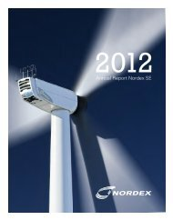 Annual Report 2012 (PDF) - Nordex