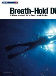 Breath-Hold Diving - A Proposed 60-Second Rule - DiveWise