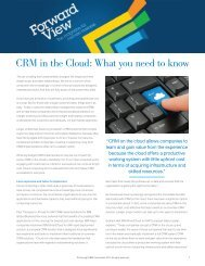 CRM in the Cloud: What you need to know - IBM