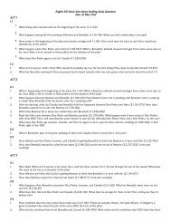 English 521 Much Ado About Nothing Study Questions Due: At ...
