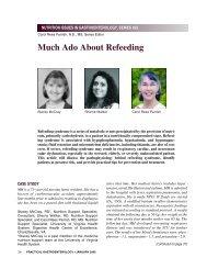 Much Ado About Refeeding - Medicine - University of Virginia
