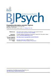 Evaluating alternative cannabis regimes* - The British Journal of ...