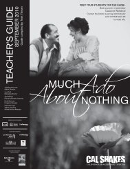 Much Ado About Nothing Teacher's Guide - California Shakespeare ...