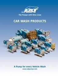 CAR WASH PRODUCTS - Pumps & Pressure Inc.