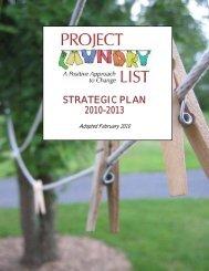 STRATEGIC PLAN 2010-2013 - Project Laundry List