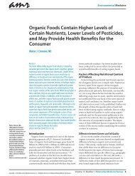 Organic Foods Contain Higher Levels of Certain Nutrients, Lower ...