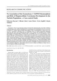 No Association of the Exonuclease 1 T439M Polymorphism and ...