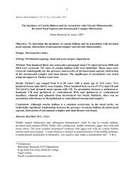 The Incidence of Concha Bullosa and Its Association - Bahrain ...