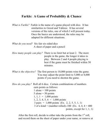 The Theory of Probability- A Game of Chance! - Writing and ...