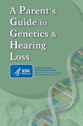 A Parent's Guide to Genetics and Hearing Loss - Centers for ...
