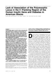 Lack of Association of the Polymorphic Locus in the 5 ... - Diabetes