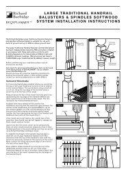 Large traditional handrail decking balusters & spindles - Deckplanner