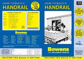 How To Handrail 10151 - Bowens