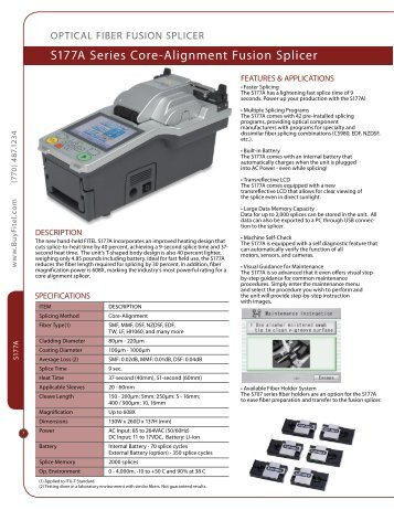 S177A Series Core-Alignment Fusion Splicer - Lantaur