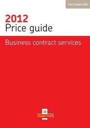 Business Contract Services Price Guide 2012 - Royal Mail