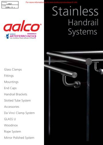Aalco Stainless Steel Handrail Systems - BD Online Product Search