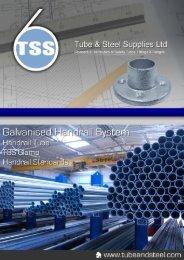 TSS - Galvanised Handrail System - Tube & Steel Supplies Ltd