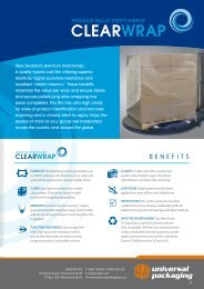 BENEFITS - Shrink Wrapping, Pallet Wrapping, Stretch Film | Universal