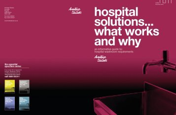 hospital solutions...what works and why - Ideal Standard