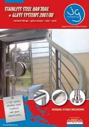 stainless steel handrail + glass systems 2007/08 - Vic Stainless Sales