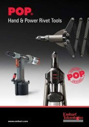 Hand & Power Rivet Tools POP - Self clinching fasteners