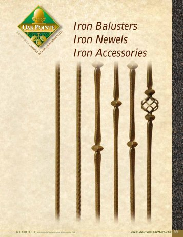Iron Balusters Iron Newels Iron Accessories   Oak Pointe Stairs