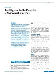 Hand Hygiene for the Prevention of Nosocomial Infections - RKI