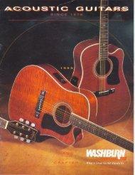 1993 Washburn Acoustic Catalog - Washburn Guitars