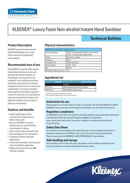 Kleenex Fresh Luxury Foam Hand Cleanser 1 Litre Cassette