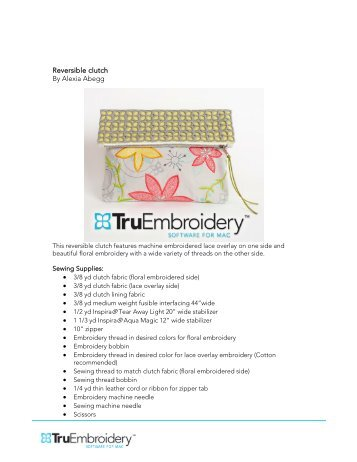 truembroidery software for mac 11