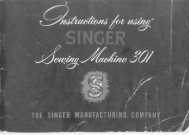 Singer 301 Sewing Machine - ISMACS