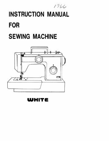 manual for singer sewing machine