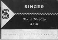 Singer Slant Needle 404 Sewing Machine - ISMACS