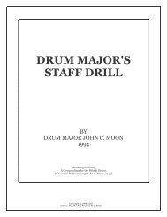 Staff Manual - Regimental Drum Major Association