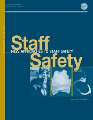 New Approaches to Staff Safety - National Institute of Corrections