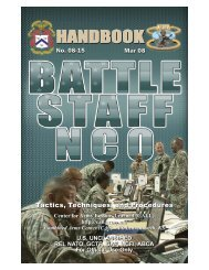 08-15 Battle Staff NCO HB.vp - Public Intelligence