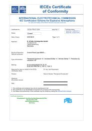 IECEx Certificate of Conformity - r. stahl