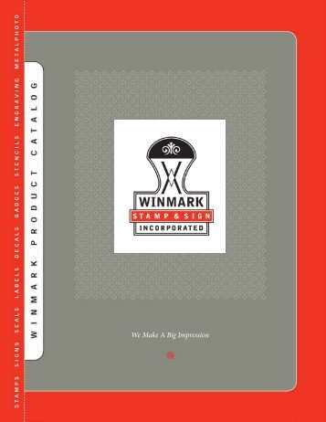 Catalog - Winmark Stamp and Sign Inc