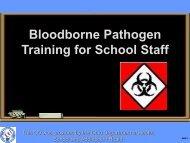 Bloodborne Pathogen Training for School Staff - Buckeye Valley ...