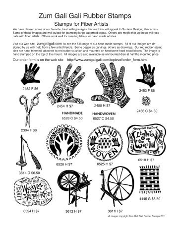 Download - Zum Gali Gali Rubber Stamps