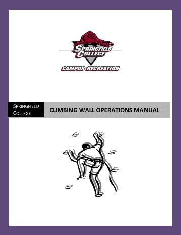 CLIMBING WALL OPERATIONS MANUAL