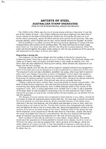 Artists of Steel - Australian Stamp Engraving.pdf - Tasmanian ...
