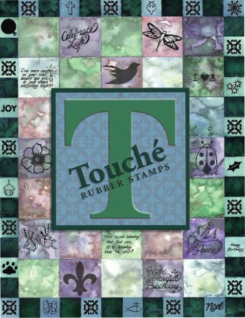 Touche Rubber Stamps Catalog -www.touchestamps.com