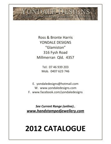 2012 catalogue - YONDALE DESIGNS Personalised Hand Stamped ...