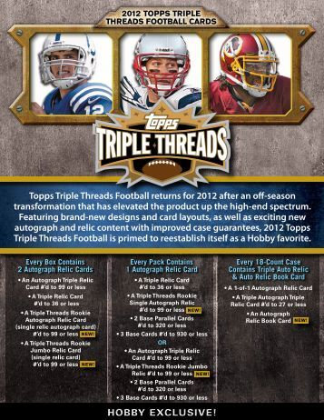 2012 Topps Triple THreADs FooTbAll cArDs - Magazine Exchange