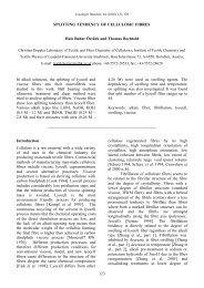 SPLITTING TENDENCY OF CELLULOSIC FIBRES Hale - Lenzing
