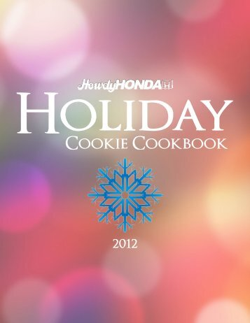 Howdy Honda 2012 Holiday Cookie Cookbook