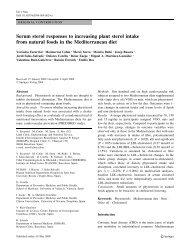 Serum sterol responses to increasing plant sterol intake ... - Predimed