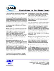 Single Stage vs. Two Stage Pumps